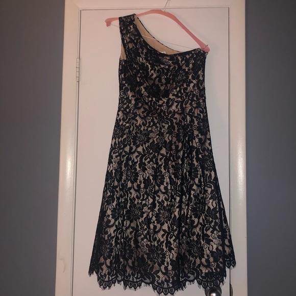 Eliza J Dresses & Skirts - Eliza J. One shoulder Lace dress with pockets